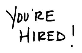 Note that you are hired