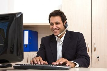 Happy help desk operator answered all interview questions