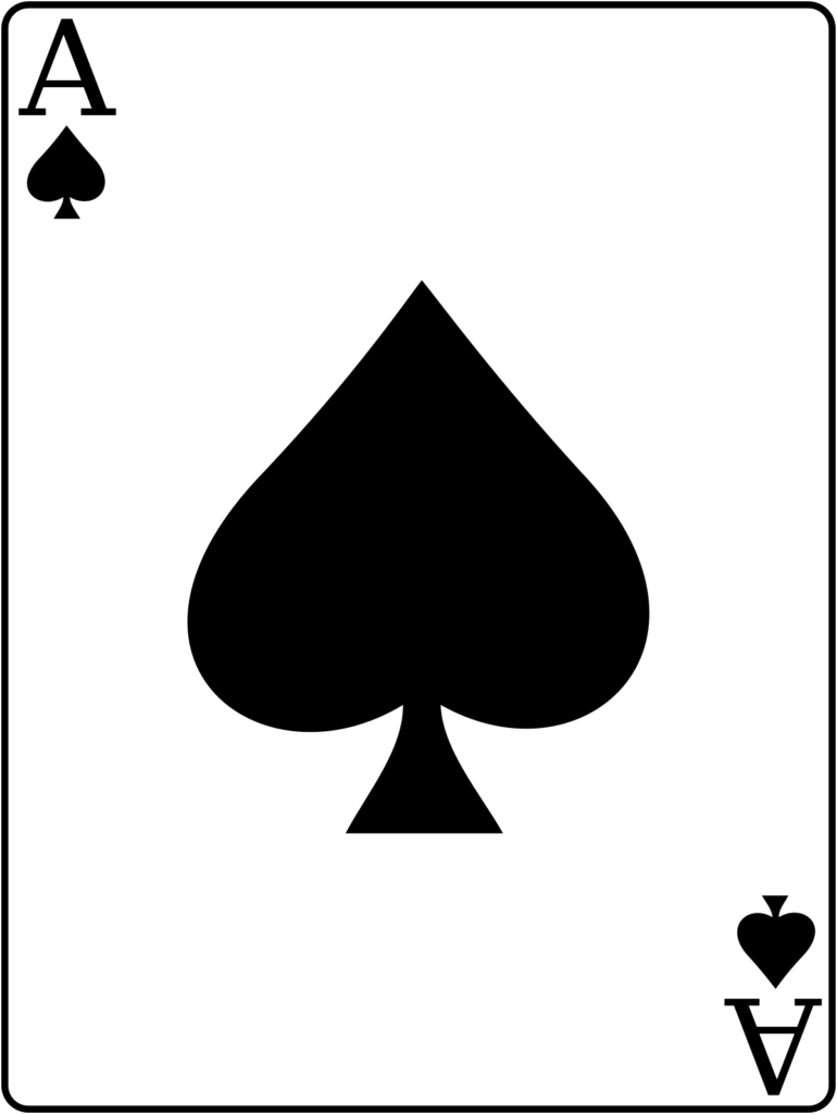 An ace, a playing card, illustration of acing an interview. We can see ace of spades on the picture