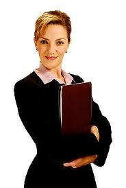 Woman holding her work portfolio