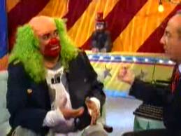 Clown asking funny interview questions