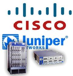 Comon names for engineers, cisco and juniper, illustration of the two most popular brand in network engineering