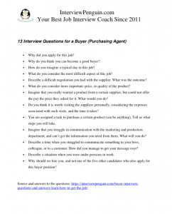 13 Questions and Answers for a Buyer Interview in 2019