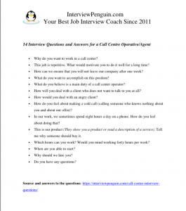 14 Call Center Interview Questions and Answers for 2019