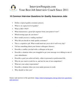 Great Answers to 16 Most Common QA Interview Questions