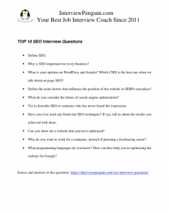 Seo Interview Questions And Answers Pdf