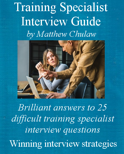 Cover of training specialist interview guide