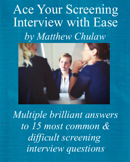 Cover of screening interview guide
