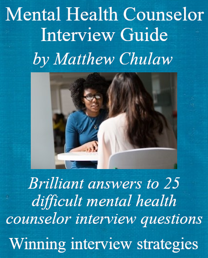 cover of the ebook for mental health counselor job applicants