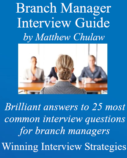 Cover of branch manager interview guide, 2020
