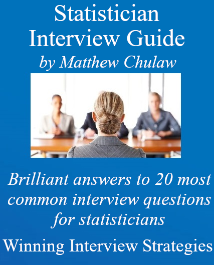 Cover of statistician interview guide ebook