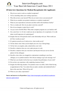 pdf, medical assistant interview questions