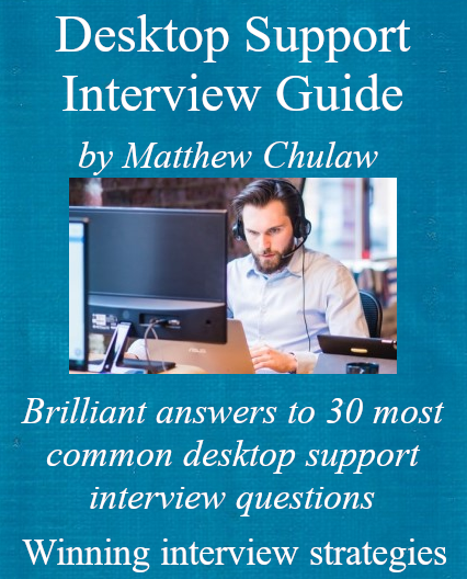 cover of desktop support interview guide