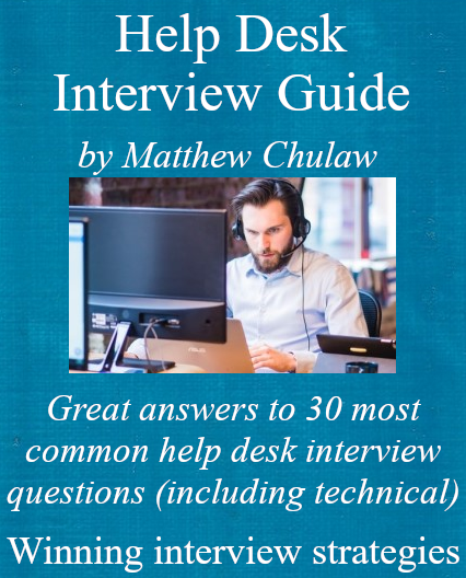 cover of help desk interview guide