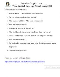 Top 10 McDonald's Interview Questions & Answers 2020 Edition